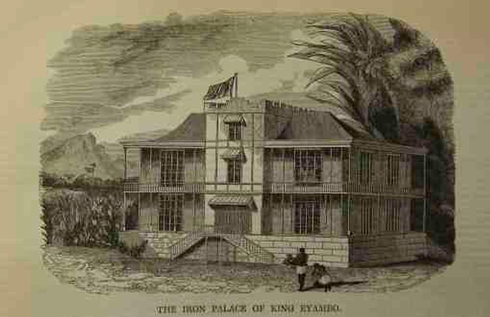 1. 'Iron palace of King Eyambo', Illustrated London News, 1843