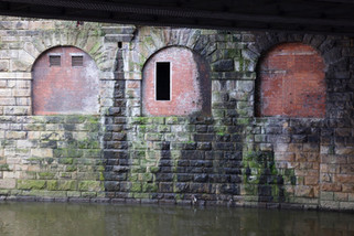 Entrance to the Victoria Arches, repurposed as air-raid shelters during the Second World War