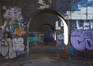 Railway arches, Trinity Way, Salford