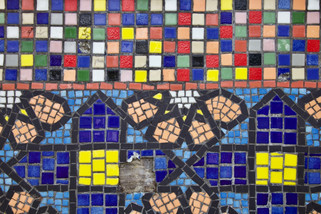 Community mosaics, Wellington Road, Ashton-under-Lyne