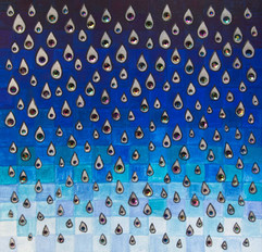 Rain, 2020, 19x19cm
