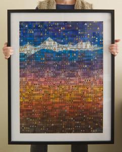 Hayracks (framed), 2009, 56x76cm
