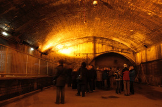 Second World War air-raid shelters under the Great Northern Warehouse