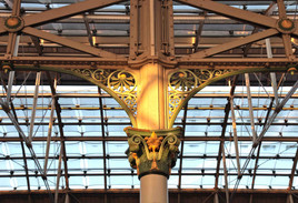 Cast-iron decoration, Piccadilly railway station, London Road