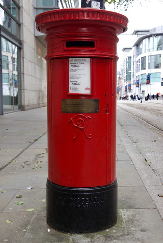 Postbox that survived the IRA bomb on 15 June 1996, Corporation Street