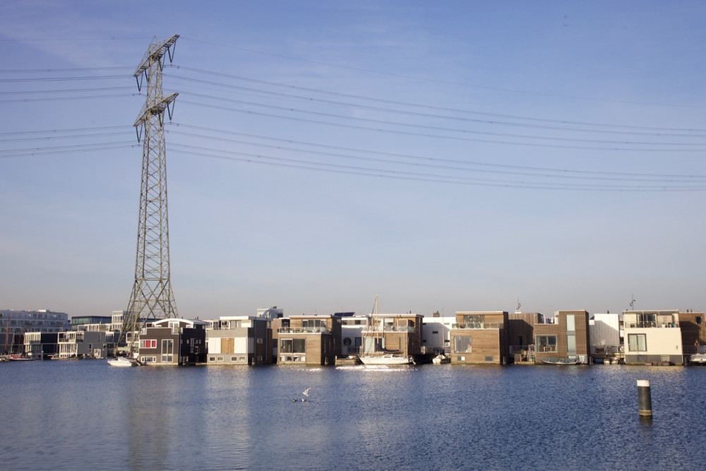 Floating houses, IJburg, Amsterdam