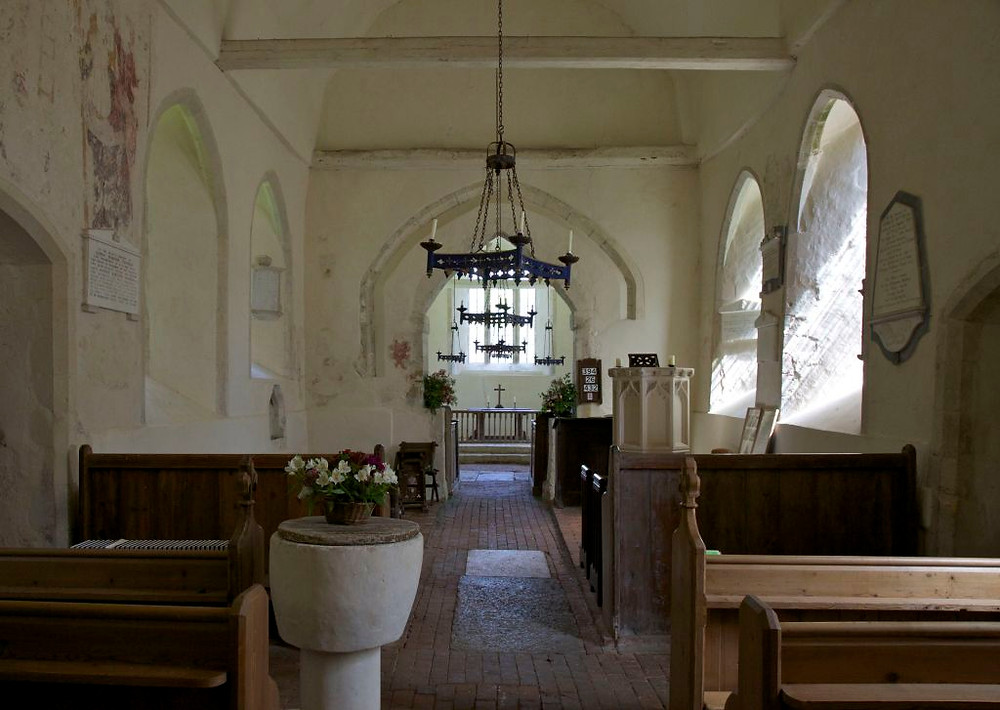 Nave, St Michael's church. Up Marden