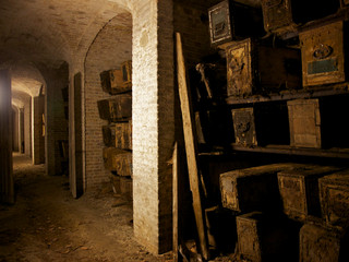 Catacombs, West Norwood cemetery, London