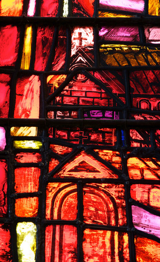 St Denys window, Manchester Cathedral