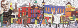Community mosaic, Islington Way, Salford
