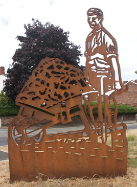 Sculpture, Barton Road, Patricroft, Eccles, Salford