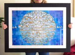 Armada (framed), 2016, 80x60cm