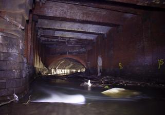 Former bridge over the Irk, c.1840s, Irk culvert, Victoria Station