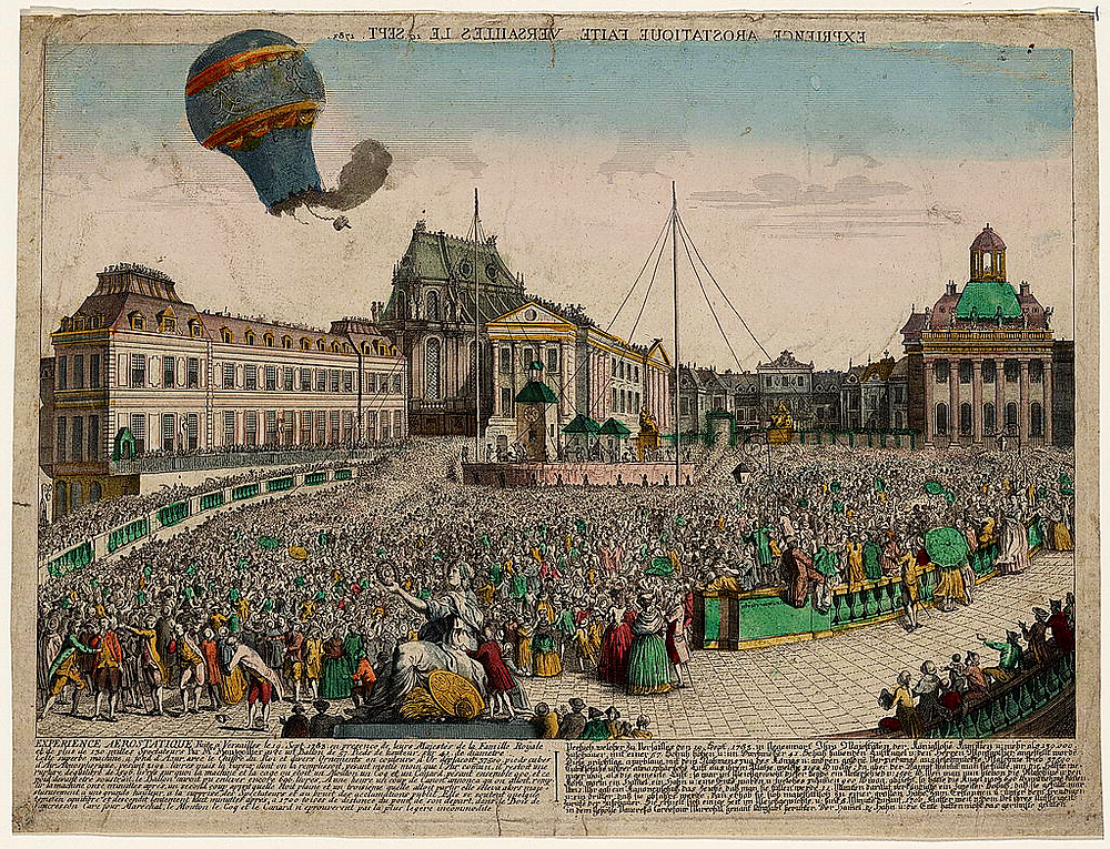The balloon launched by the Montgolfier brothers in 1783