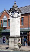Rhodes Memorial Clock tower, Wilmslow Road, Didsbury