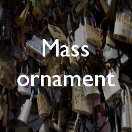 Mass ornament: Parisian love padlocks