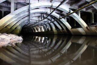 River Mersey culvert under Stockport town centre