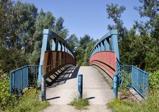 Footbridge over the River Irwell, Pendlebury, Salford