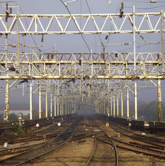 View of the Stockport viaduct from Stockport railway station