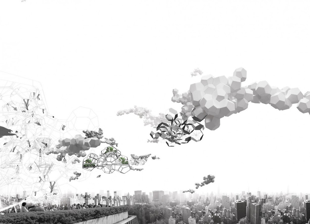 One of Saraceno's visualisations of a Cloud City