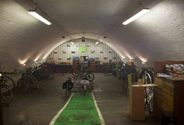 Bicycle repair shop in a railway arch, Dantzic Street, Angel Meadow