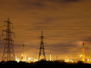 Stanlow oil refinery, Cheshire