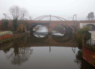 River Irwell, Trinity Way, Salford