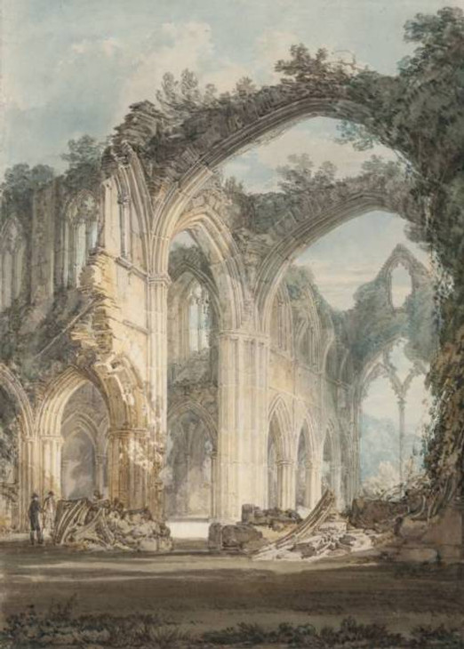 The Chancel and Crossing of Tintern Abbey, 1794 by J.M.W. Turner