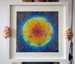 Webs (framed), 2020, 35x35cm