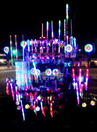 Glow-sticks stall, Cringle Fields Park, Burnage