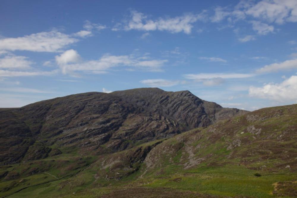 Rhinog Fawr from the descent from Llyn Hywel