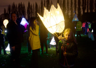 Lantern parade, Didsbury Park, Didsbury