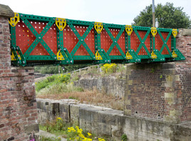 Meccano bridge, Manchester Bolton & Bury Canal, Nob End, Bolton