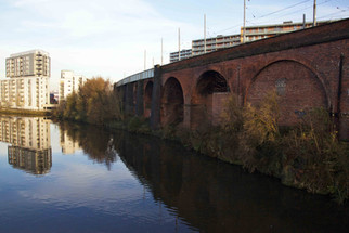Railway viaducts over the River Irwell, Cornbrook