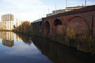 Railway viaducts over the River Irwell, Cornbrook