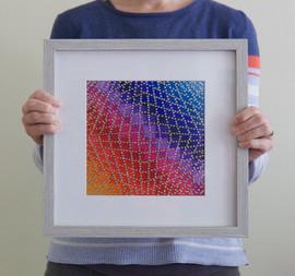 Under the Net (framed), 2020, 25x25cm