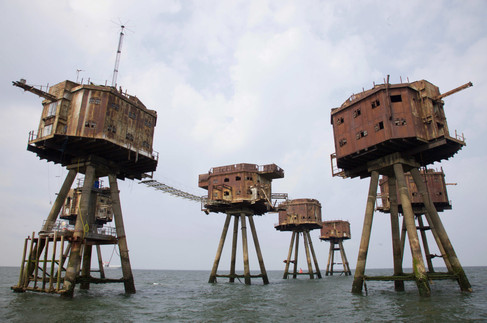 Maunsell sea forts, Medway estuary, Kent