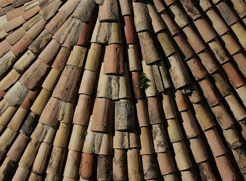 Terra-cotta roof tiles, Dubrovnik, 2008