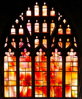 Fire window, Manchester Cathedral