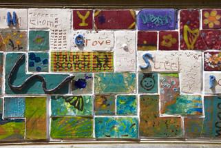 Community mural, Hawthorn Grove, Heaton Moor, Stockport