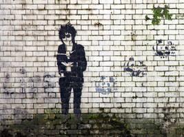 John Cooper Clarke mural, Blackfriars Street, Salford