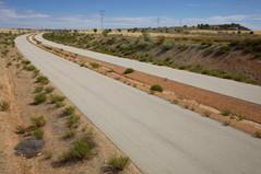 Abandoned motorway near Madrid