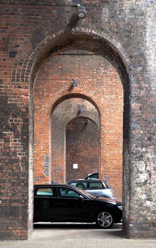 Railway viaducts, Potato Wharf, Castlefield