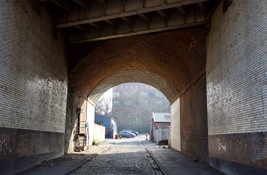 Railway viaduct, Aspin Lane, Angel Meadow