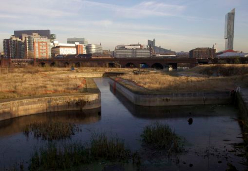 5. Former docks at the junction of the river Irwell and the Manchester Ship Canal