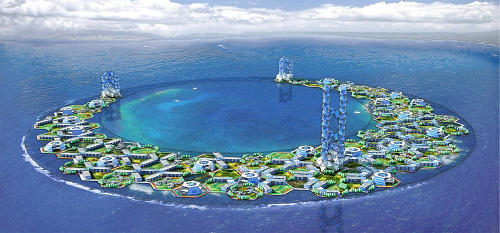 Prismatic Module Island, 2015, by Matias Perez
