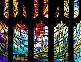 Healing window, Manchester Cathedral