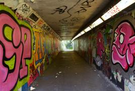 Pedestrian subway under the M60 motorway, Stockport