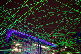 Lightwaves exhibition, Media City, Salford Quays, December 2017