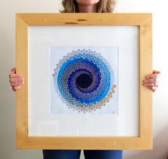 Singularity (framed), 2020, 50x50cm
